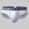 Mens Sexy Penis Pouch Hole Modal Respirável Briefs Stretch Low Waist Underwear
