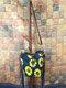 Tassel Decor Faux Fur Sun Flower Exquisite Print Pattern Lattice Bucket Bag Shoulder Bag - 1