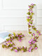 1PC 2.5m Artificial Flower Garland Ivy Autumn Small Peony Flowers Fake Simulation Plant Autumn Leaves Vine Home Wall Garden Wedding Arch Decor - #05