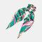 Ponytail Scarf Elastic Hair Rope Hair Bow Ties Scrunchies Hair Bands Flower Print Ribbon Hairbands - 5