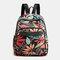Women Multi-pocket Print Casual Lightness Backpack - #03