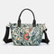 Women Large Capacity Nylon Flowers Printed Handbag Crossbody Bag - #03