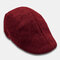 Mens Breathable Painter Beret Caps Casual Outdoor Visor Forward Hat - Red