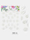 5D Colorful Flowers Embossed Decals Series Nail Stickers - #11