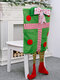 1Pc Christmas Chair Covers Santa Claus Hat Christmas Dinner Chair Back Covers Table Party Decor - #04