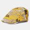 Collrown Beret Caps Print Sun Hat Tie-dye Cap - Yellow