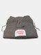 Men & Damen Cute Piggy Katze Ohren Plain Color Warm halten Winddicht gestrickt Hut - Grau
