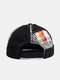 Unisex Cotton Patchwork Color-match Brimless Beanie Landlord Cap Skull Cap - Black