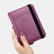 Women RIFD Genuine Leather 4 Card Slots 2 Cell Phone Card Multifunctional ID Package Money Clip Wallet Purse - Purple
