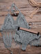 Frauen aushöhlen Quaste trimmt rückenfreie Webart Halfter Holiday Beach Bikinis - Dunkelgrün