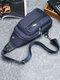 Men Camo USB Charging Earphone Hole Crossbody Bag Chest Bag Sling Bag - #04
