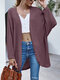 Solid Loose Dolman Long Sleeve Casual Cardigan for Women - Pink
