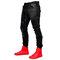 100% algodón con cordón, cintura media, piedra lavada Jeans denim Pantalones para hombre