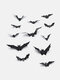 12/24/48/96 Pcs A Set Halloween 3D Black Spider Bat Wall Stickers DIY Decorative Wall Decal For Halloween Removable Stickers - #01
