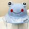 Children's Dust Cap Detachable Face Screen Windproof Transparent Fisherman Hat  - Blue