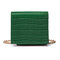 Women Mini Purse Crocodile Pattern Cosmetic Square Chain Bag