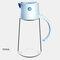 زجاجة تخزين زجاجية للتوابل للمطبخ ومضادة للرطوبة ومضادة للأتربة بسعة كبيرة زجاجة خل زيت الصوص - أزرق