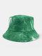 Men & Women Corduroy Tie-dye Double-sided All-match Outdoor Bucket Hat - #06