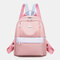 Women Oxford Waterproof Anti-theft Patchwork Casual Backpack - Pink