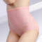 Plus Size Cotton High Waisted Seamless Tummy Control Panties - #15