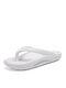 Couple Women Fashion Indoor & Outdoor Flip Flops Comfy Soft Casual Beach Slippers - White