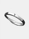 Simple 925 Silver Couple Rings Adjustable Open Sun Moon Ring Valentine's Day Gift - Women