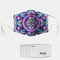 Floral Pattern Polyester Fashion Dustproof Mask With 7 Mask Gaskets - #01