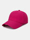 Unisex Quick-dry Solid Color Travel Sunshade Breathable Baseball Hat - Red