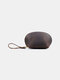 Men Genuien Leather Retro Mini Cute Hand-carry Storage Bag Coin Bag Wallet - Coffee
