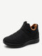 Women Solid Color Waterproof Snow Boots Casual Warm Ankle Boots - Black
