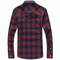 Men's Casual Large Size Plaid Shirt Cotton Long Sleeve Shirts - Red