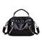 Women Plain Multi-pockets Square Bag Shoulder Bag - Black