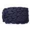 100*120cm Fashion Hand Chunky Wool Knitted Blanket Thick Yarn Merino Wool Bulky Knitting Throw Blankets Chunky Knit Blanket - Navy