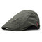 Men's Comfortable Cap Spring And Summer Embroidery Cotton Adjustable Fashion Beret Cap - Army Green