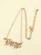 Elegant Letter Inlaid Diamond Women Necklace Twelve Constellation Pendant Necklace Jewelry Gift - Virgo