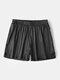 Casual Lightweight Pure Color Mini Homewear Shorts For Men - Black