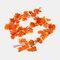 装飾的な花と花輪人工のアイビーリーフガーランド植物つる偽の紅葉花家の装飾 - 5