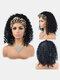 8 Inch Explosive Head Short Curly Hair Extensions Fluffy Turban Head Cover Wig - #07