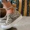 Plus Size Women Retro Zipper Decor Canvas Lace Up Flat Casual Shoes - Grey