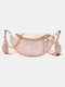 Women Dotted Daisy Printed Sling Bag - Pink