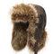 Мужские зимние теплые толстые теплые уши Имитация меха Волосы PU Lei Feng Cap На открытом воздухе Повседневный Шапка