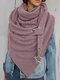 Женское Вельветовые повседневные шарфы с запахом шали Универсальный толстый теплый нагрудник с шалью - Розовый