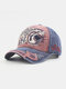 Men Washed Cotton Letter Pattern Patch Baseball Cap Outdoor Sunshade Adjustable Hats - Red