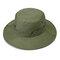 メンズレディースシルクバイザーバケットハットフィッシャーマンハットアジャスタブルチンストラップ折りたたみ帽子 - アーミーグリーン