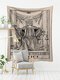 Tarot Card Pattern Blanket Tapestry Wall Hanging Tapestries Bedroom Bedspread Throw Cover Sun Moon Wall Decor - #08