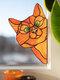1 PC PVC Cartoon Peeking Cat Dog Cute Home Decoration Self-adhesive Waterproof Window Sticker Wall Sticker - #09