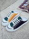 Women Stylish Outdoor Patchwork Contrast Lace-up Backless Skate Shoes - Black
