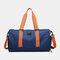 Separate Dry And Wet Gym Bag Woman Man Luggage Bag Travel Bag Portable Leisure Yoga Bag cylinder Bag - Blue