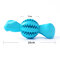 Environmental Friendly Rubber Pet Dog Dispenser Ball Toy Puppy Teeth Cleaning Brush Toy