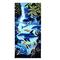 Абсорбирующая микрофибра с принтом синего дельфина и пингвина 70x150 см Пляжный Полотенца Быстросохнущее банное полотенце - F